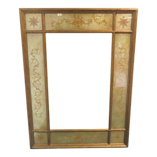Theodore Alexander Distressed Eglomise Mirror For Sale