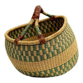 Vintage African Farmer's Market Basket