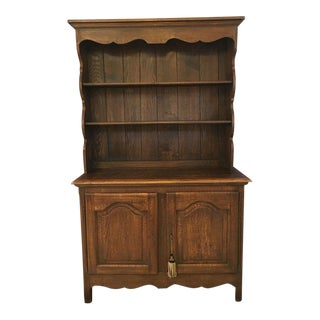 Antique French Country Oak Kitchen Sideboard For Sale