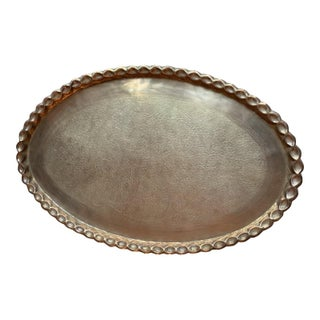 1970s Boho Chic Moroccan Brass Trays For Sale