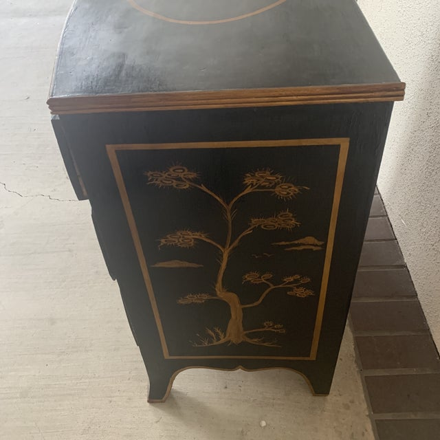 Paint 1800s Chinoiserie Bowfront Chest For Sale - Image 7 of 13