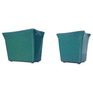 Glidden Turquoise Matrix Vases - A Pair