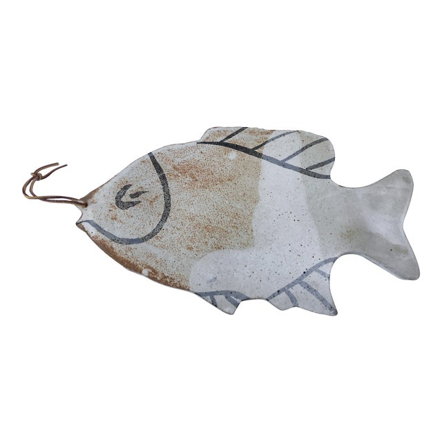 Vintage Pottery Fish Platter - Image 1 of 6