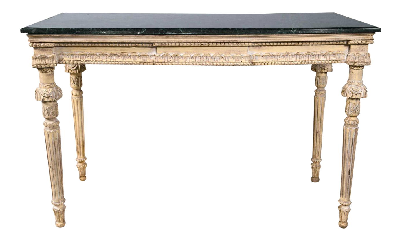 Beau Louis XVI Marble Top Console Table For Sale