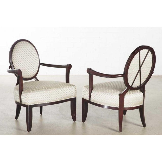 Pair of Signed Baker Furniture Company Armchairs by Barbara Barry.