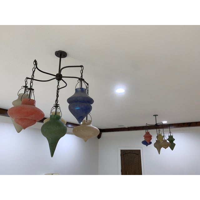Contemporary Pair of Murano Glass Chandelier CX Designs Scavo Collection For Sale - Image 3 of 9