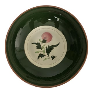 """Midcentury Stangl Pottery """"Thistle """" 8""""d Serving Bowl For Sale"""