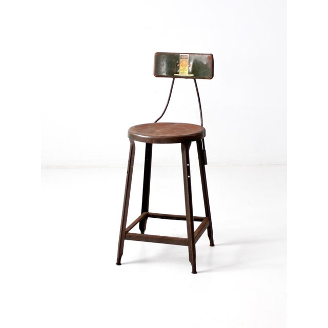Vintage Industrial Drafting Stool For Sale - Image 12 of 12