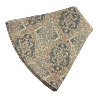 Custom Blush Ikat Round Handmade Table Cover Robert Allen Fabric For Sale
