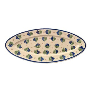 Antique French Provincial Henriot Quimper Faience Platter For Sale