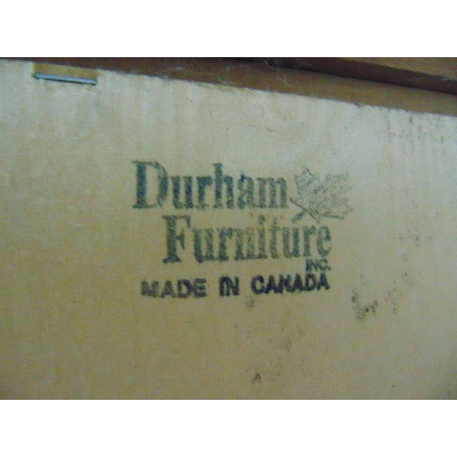 Durham Furniture Cherry Chippendale Linen Press For Sale - Image 10 of 11