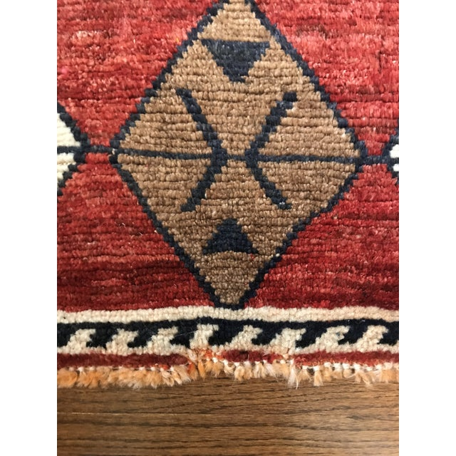 Islamic Hand Knotted Geometric Navy, Ivory, Copper and Rust Rug For Sale - Image 3 of 9