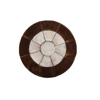 """Aydin Cowhide Patchwork Rug - 4'3"""" x 4'3"""" For Sale"""