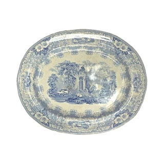 Antique Palace Garden Transferware Platter For Sale