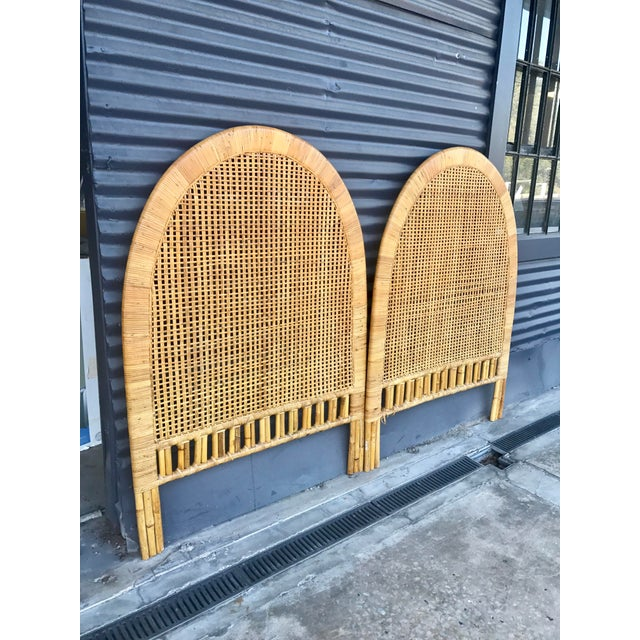 Vintage Rattan Caning Twin Headboards - A Pair - Image 10 of 10