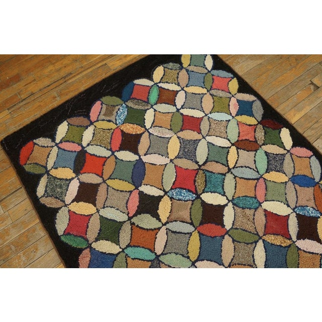 """Antique American Hooked Rug 3'7"""" X 8'9"""" For Sale In New York - Image 6 of 12"""