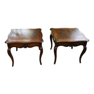 Hekman Furniture Square Tables - a Pair For Sale