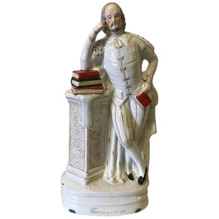 19th Century Staffordshire Portrait Figure of Shakespeare For Sale