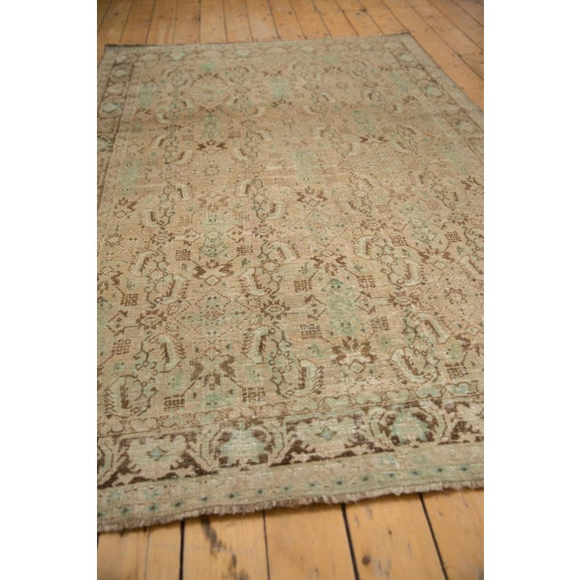 "Textile Vintage Distressed Shiraz Carpet - 5'4"" X 8'3"" For Sale - Image 7 of 12"