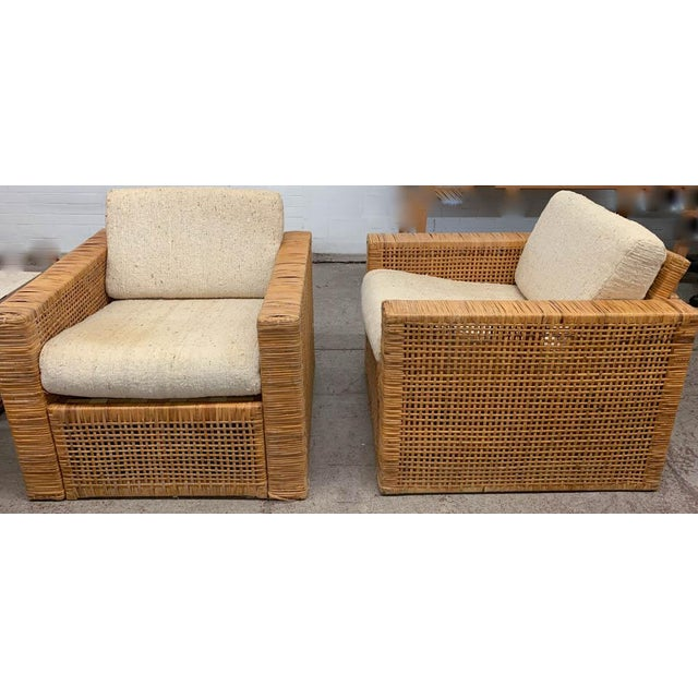 We have endless design ideas for this pair of mid century cube chairs.The cube form mixes so well with other design styles...
