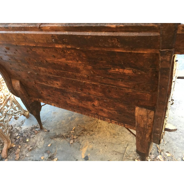India Teak Wood & Iron Bench For Sale In San Francisco - Image 6 of 11