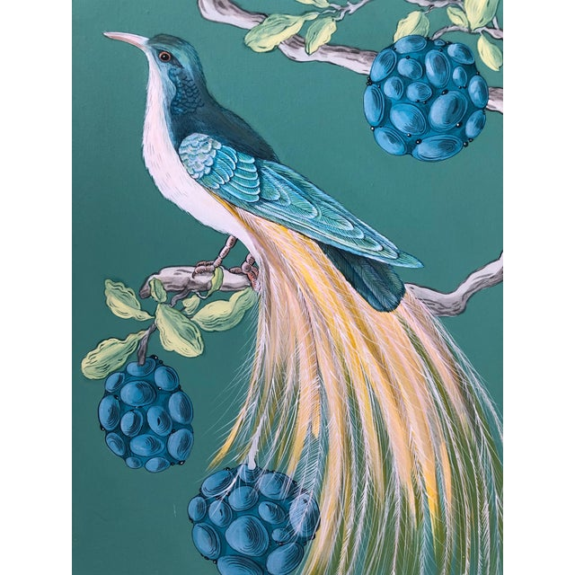 The Arrival Contemporary Bird Botanic Painting For Sale In Los Angeles - Image 6 of 12