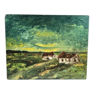 Mid-20th C European Impressionistic Oil Painting For Sale