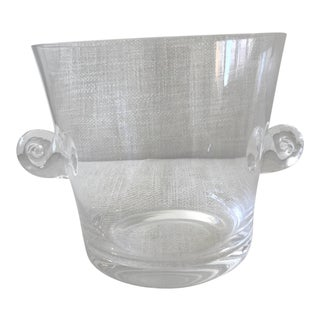 Tiffany & Co Glass Ice Bucket For Sale