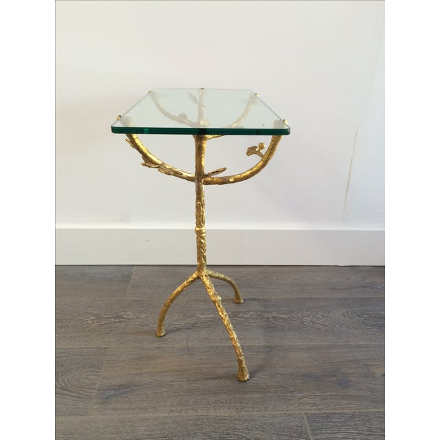 "Gilt Iron Giacometti Style ""Tree"" Side Table - Image 8 of 11"