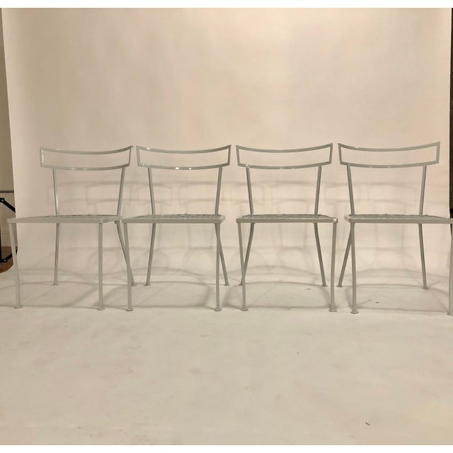 Mid-Century Modern Klismo Patio Dining Chairs - Set of 4 For Sale - Image 3 of 9