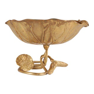 Bronze Organic Form Decorative Dish For Sale