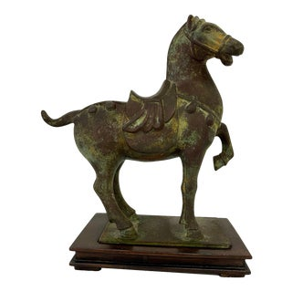 Cast Iron Chinese War Horse Sculpture For Sale