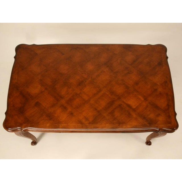 Vintage French Louis XV Cherry Wood Draw Leaf Table For Sale In Chicago - Image 6 of 11