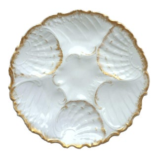 Antique French Porcelain Oyster Plate For Sale