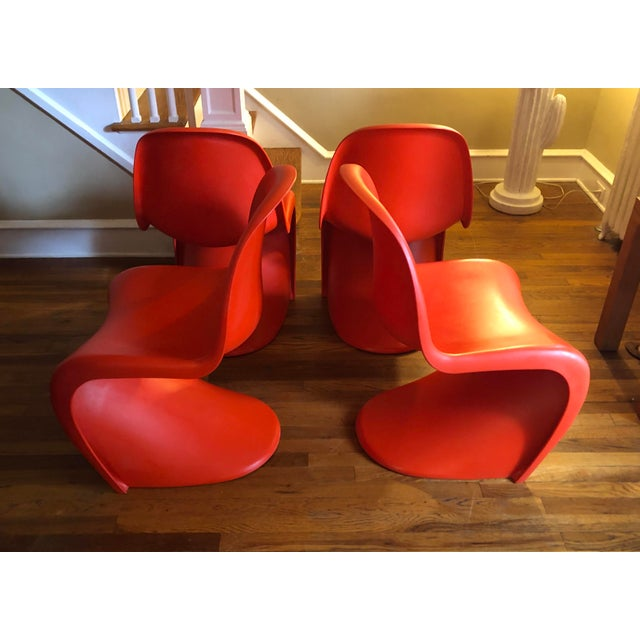Verner Panton for Vitra Chairs- Set of 4 For Sale - Image 10 of 11