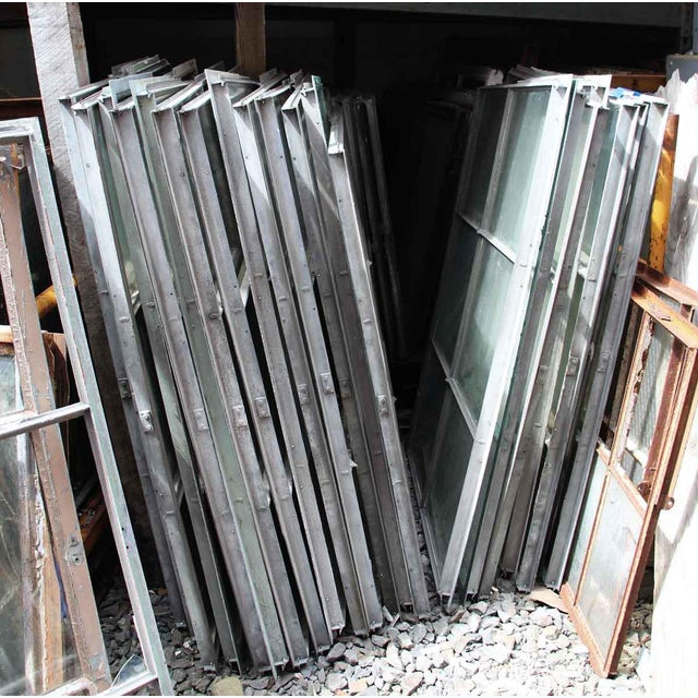 Industrial 6 Pane Steel Frame Glass Window For Sale - Image 6 of 7