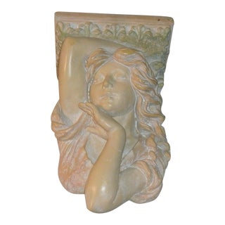 Bust of Victorian Woman Mini Wall Shelf For Sale