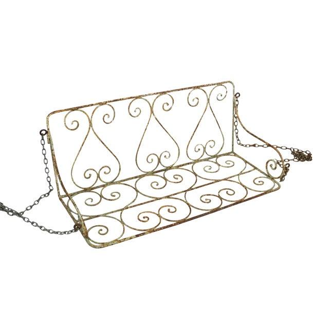1880 English Iron Garden Swing For Sale
