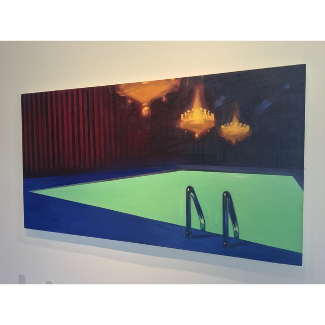 """Contemporary Sheldon Greenberg """"Chandelier"""" Contemporary Painting For Sale - Image 3 of 8"""