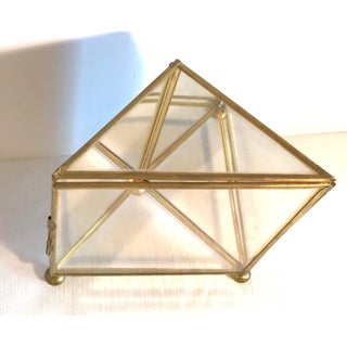 Vintage Mid-Century Brass and Glass Mini Display Case Preview