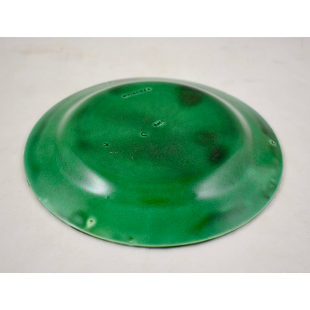 Green Wedgwood Majolica Green Glazed Cabbage Leaf & Basket Plate For Sale - Image 8 of 12