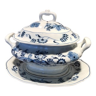 Blue Danube Japan Tureen and Underplate For Sale