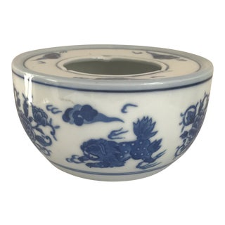 Japanese Blue & White Dragon Bowl For Sale