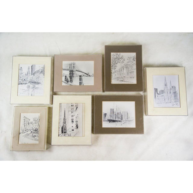 Bruce Armon New York Ink Sketch Prints - Set of 7 For Sale - Image 13 of 13