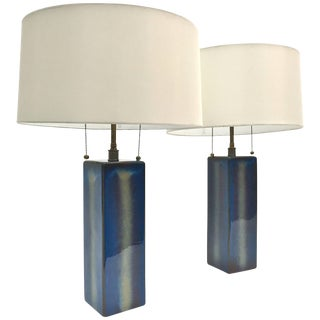Pair of Large Table Lamps by Soholm Pottery For Sale