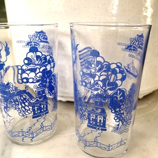 Vintage Blue Willow Cocktail Glasses Preview
