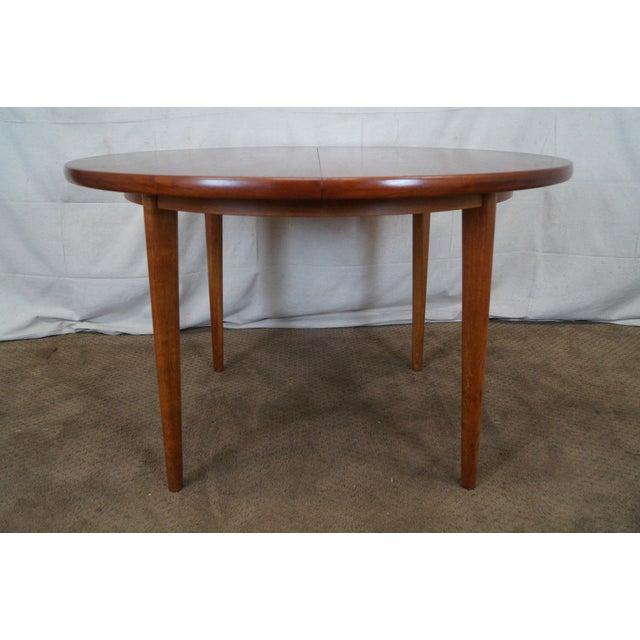 Vintage Round Teak Danish Dining Table - Image 3 of 10