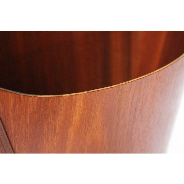 1960s Einar Barnes for P. S. Heggen Teak Wastepaper Basket - Image 9 of 11