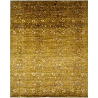 "Persian Gold Hand-Knotted Wool Rug- 7'6"" X 9'3"""