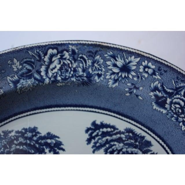 Blue & White English Tin Plate - Image 3 of 4